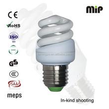 high quality mini full spiral 10W T2 E27 6500K AISHI capacitor energy saver bulb factory