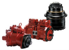 Hyundai excavator hydraulic pump & traveling motor