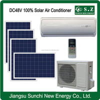 DC48V variable 100% off grid house best using UK solar airconditioning warehouse