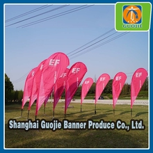 Sports event beach flag banner for outdoor promotion for sale