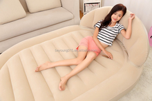 china source royal cheap inflatable round air bed with backrest