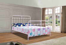 Sweet pink children iron bed for home furniture