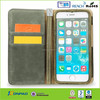 Fashion leather wallet case for iPhone 6 Plus with belt