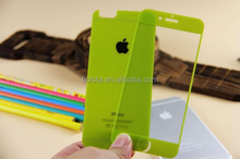 colorful mirror tempered glass screen protector for iphone 6