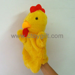 Plush cock customized hand puppets