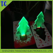 Pop up card new year led light card for promotion gifts Led Card Light