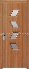 Glass insert wood interior door, office door,bathroom door
