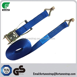 GS standard ratchet tie down straps,2inch cargo lashing belt with double j hook