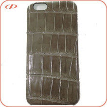 Exotic genuine crocodile skin case for iPhone 6