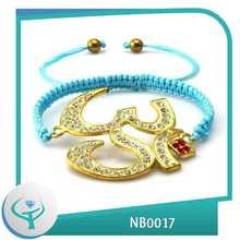 [Joyas TTT] 2014 al por mayor encantos traje de la manera del cuerpo de oro pulsera elefante joyería piercing