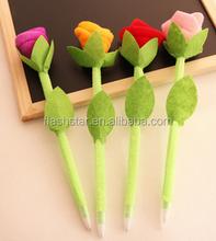 Unique and beautiful flower shaped pen, cheap plastic flower pen