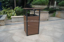 high-end recycled plastic wood dustbin