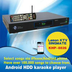 Android ktv karaoke player with thousands of popular songs
