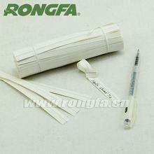 "6"" x10000pcs per case Ball Pen Writing White Bulk Bin Ties"
