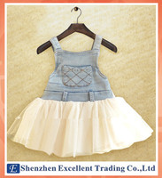 2014 Summer Trendy Style Baby Girls Denim Dress