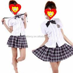 High quality woman fancy dress costume sex school girl costumes QAWC-5452