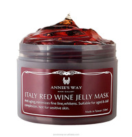 Italy Red Wine Anti-aging Anti-Pigmentation Whitening Minimizing fine line Pore Cleansing Jelly Facial Mask