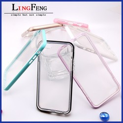 China supplier wholesale metal bumper+tpu double protective case for iphone 6 case