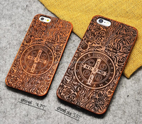 2015 new style laser carving original real wood cover PC mobile phone case cover for iphone 5 5s 6 6s 6plus CO-MIX-9042