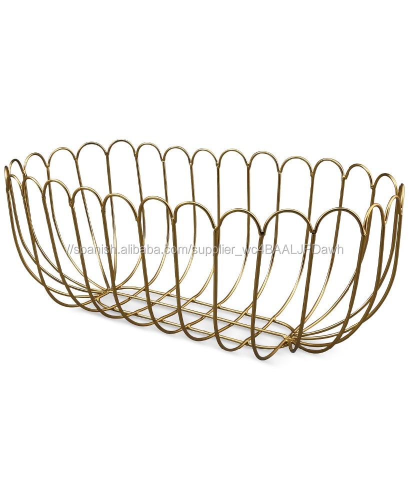 Oro alambre de la canasta de pan