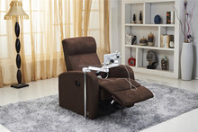 WorkWell 2015 new design pu leather luxury recliner fabric sofa