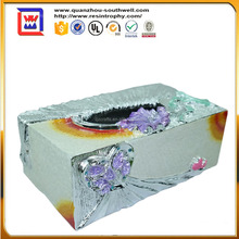 resin decorate tissue box and custom made tissue paper box design for sale