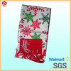 Wholesale Xmas decoration supper giant gift bag oversize snowflake christmas drawstring gift bag