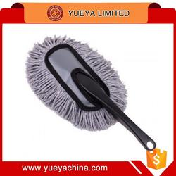 small size cotton car cleaning duster with plastic handle