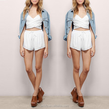 ANLY latest fashion plain soft slim high waist sunny day out shorts for women