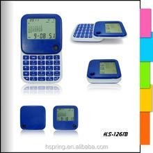 Sliding cover calculator with permanent calendar