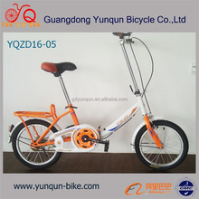 "cheap price frame foFoldable bicycle/16"" mini suspension folding bicycles /lding bike/ steel frame foldable bicycle on wholesale"