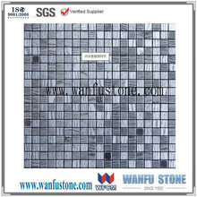 Durable and washable mesh mounted dark and light grey marble mosaic