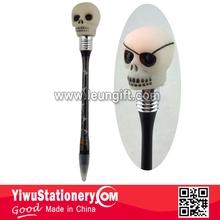 Lighting Up Halloween skull pen LED pirate pen