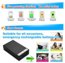 12V Recharge Battery 6500/8500/15000mah Portable DC Li-ion Battery with Charger OEM/ODM Factory Price