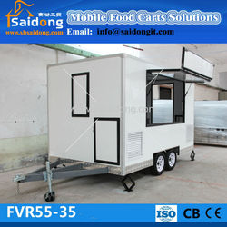 Fiberglass Luxury Street Sale Coffee Mobile Food Vending Truck coffee kiosk van for sale