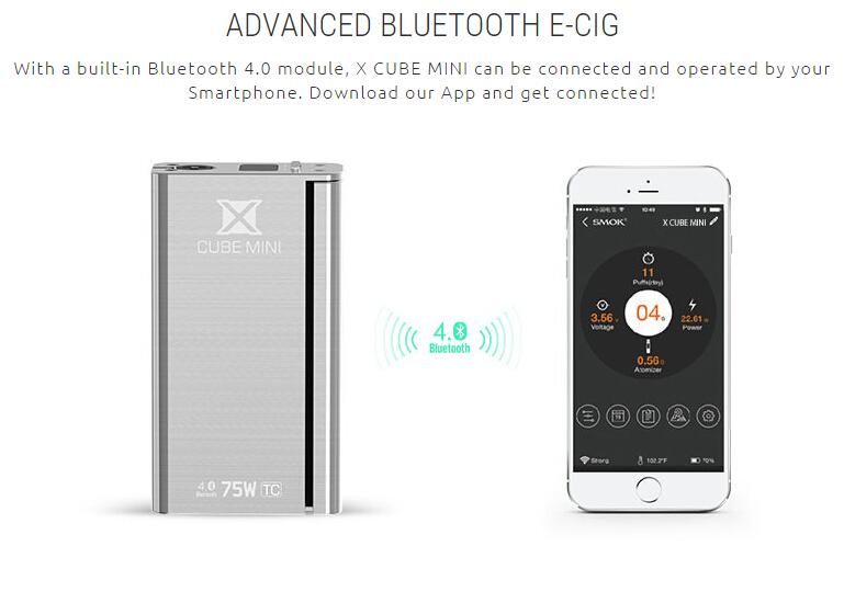 Smok xcube mini 75W Temp Control TC Mod SMOK Treebox/Xcube 2 Mini/TFV4 Mini Bell Cap