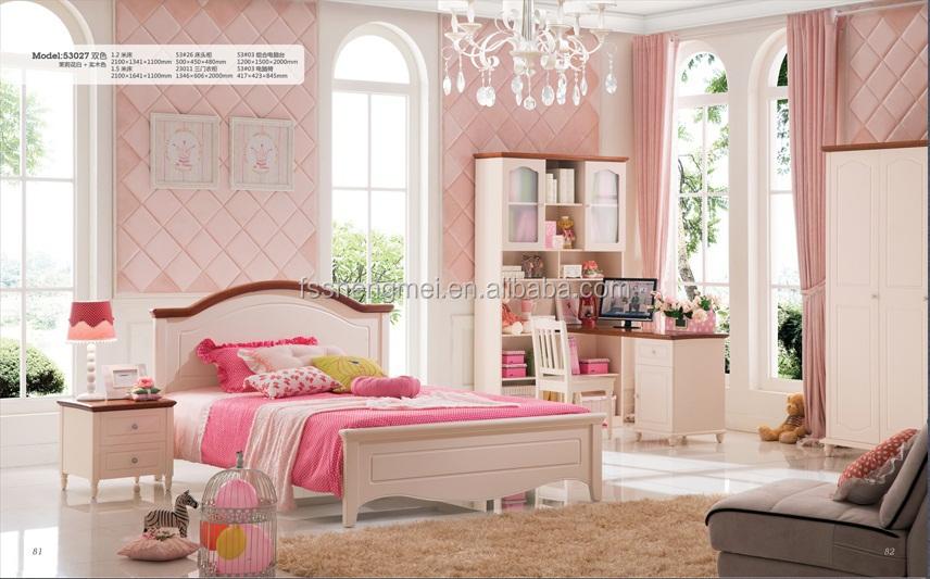 Simple European Design Kids Home Furniture Children Bedroom Sets ...