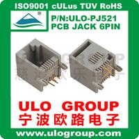 4P USB Female Type-B Jack 4-Pin 90 Degree PCB DIP Socket Connector