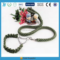 Dog Pet Personalized Cloth Woven Leash with Adjustable Collar