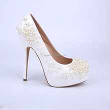 New arrival women shoes 2015 diamond wedding crystal high heel shoes white sexy bridal shoes