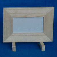 New unfinished picture frame wooden photo frame with base