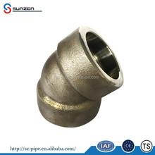 "1""socket welding ss 45 degree elbow pipe fitting"