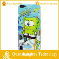 Below cost smart Sponge Bob Square charactor design hard case protective skin for ipod touch 5 5th mp3 cover