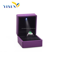 Shenzhen factory wooden handmade led light jewelry gift box paper jewelry packing box