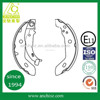 top quality semi-metal organic brake shoes for europe trucks