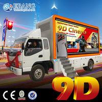Movable 7d trailer complete 5d cinema 9d electric cabin