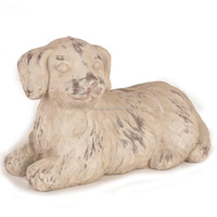 Sitting dog artwork cement dog art and craft
