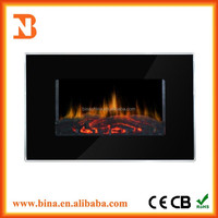 2015 remote control decor flame pebble electric fireplace heater