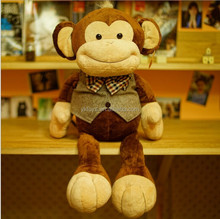 Dress big mouth monkey Gentleman monkey doll