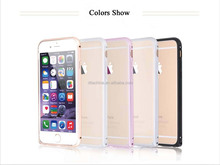 "2015 latest Fashion Wholesale aluminium metal bumper cover round edge high quality for iPhone 6 4.7"" protective case"